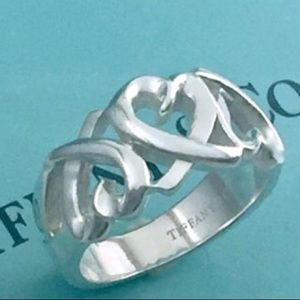 Tiffany Paloma Picasso 3 heart ring size 7
